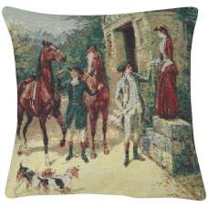 English Riders Decorative Pillow Cushion Cover