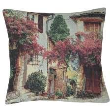 Mediterranean Scene Decorative Pillow Cushion Cover
