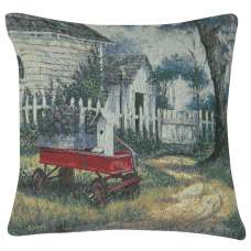 A Little Red Wagon Decorative Pillow Cushion Cover