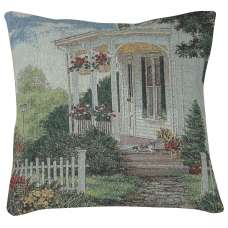 The Porch Cat Decorative Pillow Cushion Cover