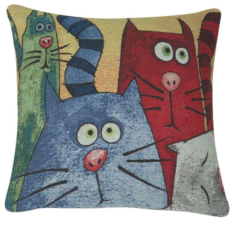 Cartoon Cats Decorative Pillow Cushion Cover