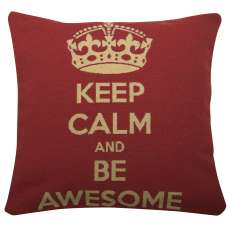 Keep Calm and Be Awesome Decorative Pillow Cushion Cover