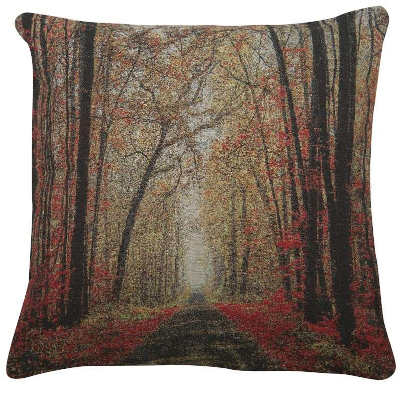 The Autumn Glade Path Decorative Pillow Cushion Cover