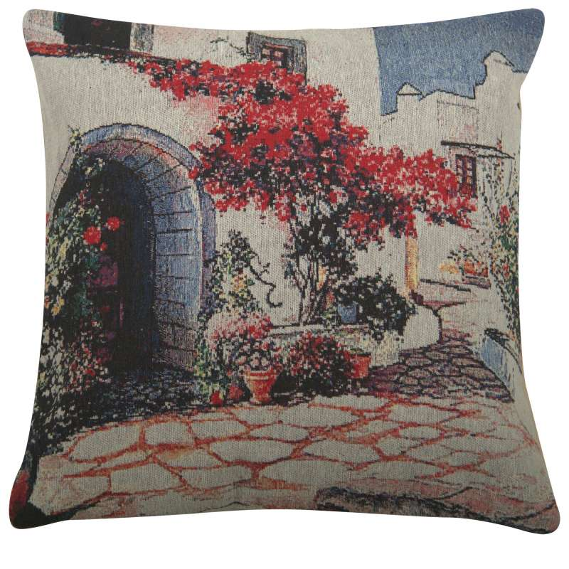 Red Tree Courtyard Decorative Pillow Cushion Cover