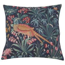 Faisan Bleu Decorative Tapestry Pillow