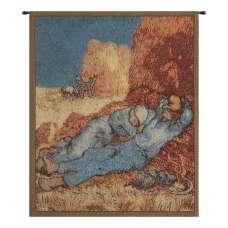 Repose of the Farmer Mini Belgian Tapestry