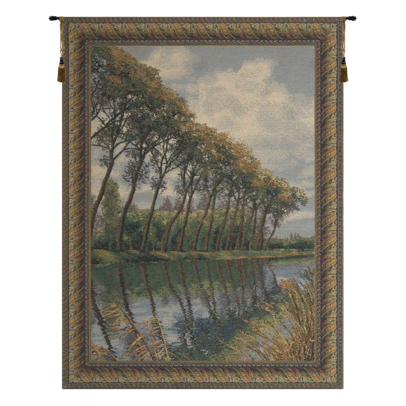 Canal in Flanders No Mill Belgian Tapestry Wall Hanging