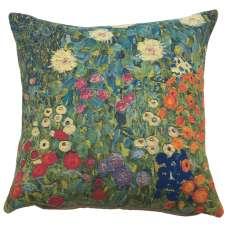 Flower Garden II by Klimt European Cushion Cover