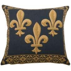 Fleur de Lys 3 Blue European Cushion Cover