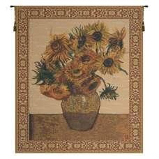 The Sunflower Beige Belgian Tapestry