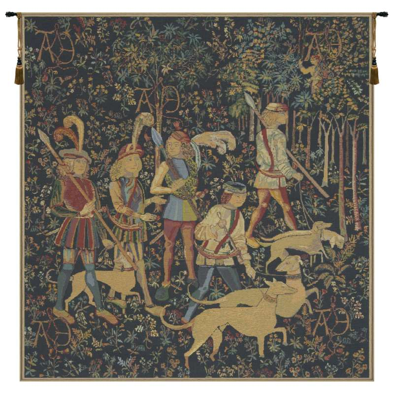 The Hunt Amour Eternelle Square Flanders Tapestry Wall Hanging