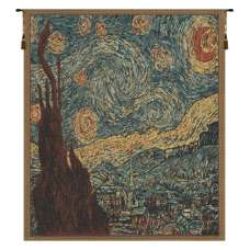 Van Gogh's Starry Night Mini Belgian Tapestry