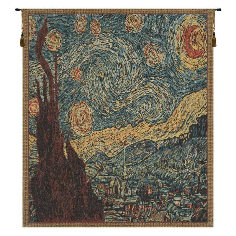Van Gogh's Starry Night Mini Belgian Tapestry