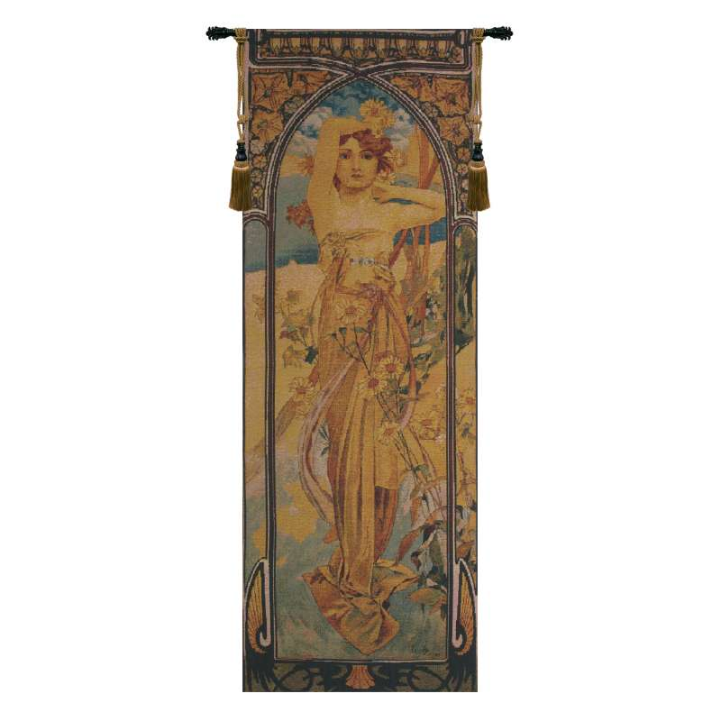 Mucha Jour Bright Flanders Tapestry Wall Hanging