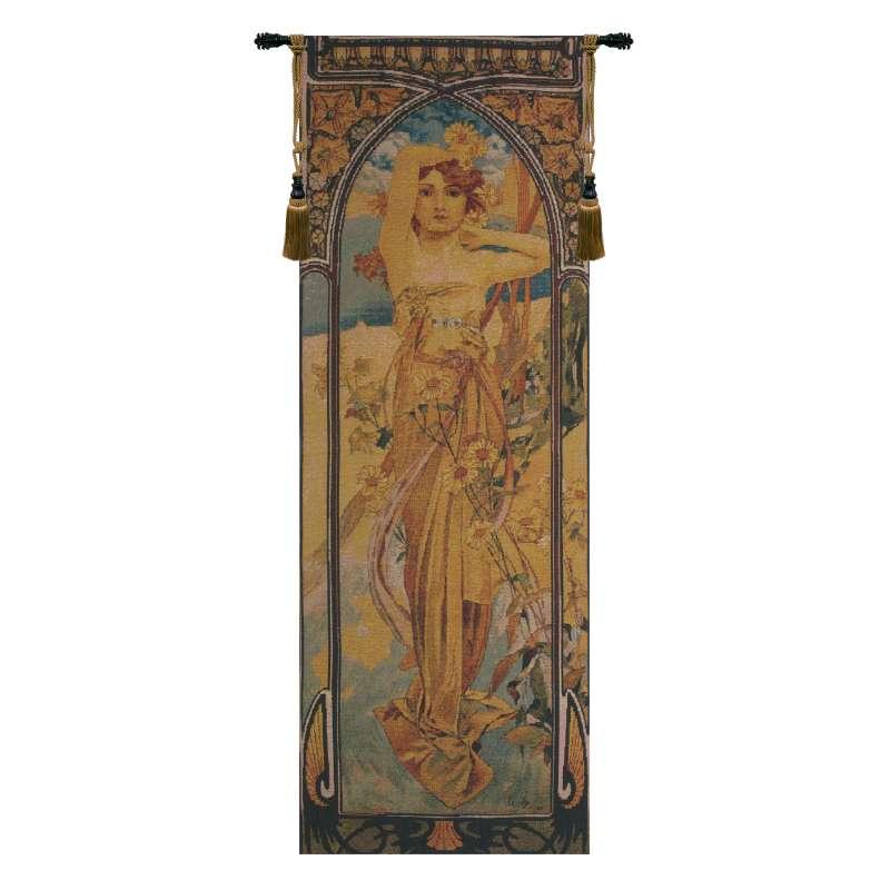 Mucha Jour II Belgian Tapestry Wall Hanging