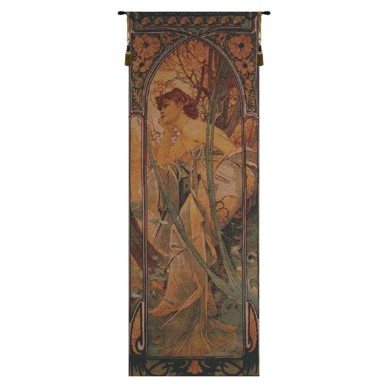 Mucha Soir Bright Belgian Tapestry Wall Hanging