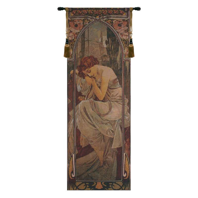 Mucha Nuit Bright Belgian Tapestry Wall Hanging