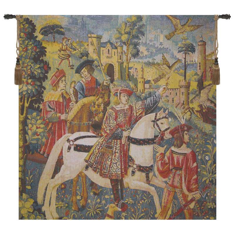 Chasse Bright Flanders Tapestry Wall Hanging