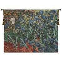 Irises In Garden II Flanders Tapestry Wall Hanging