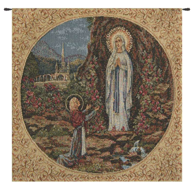Appearance of Lourdes Square European Tapestries
