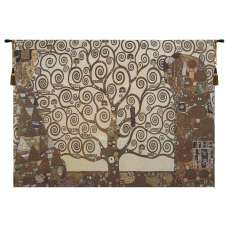 Stoclet Frieze Tree of Life Small Tapestry Wall Art