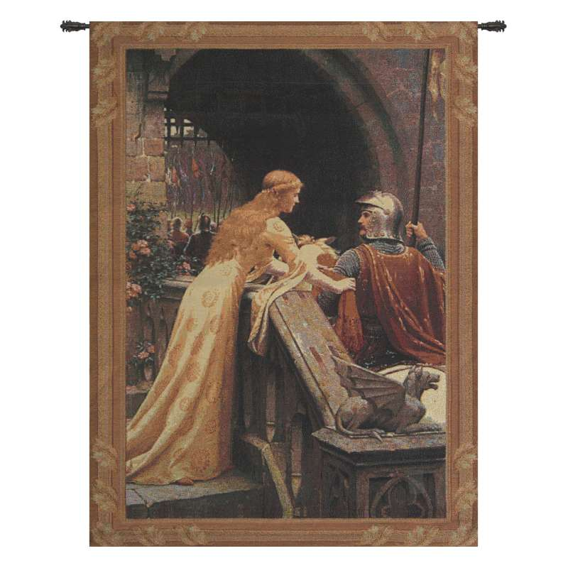 Godspeed Small with Border Fine Art Tapestry