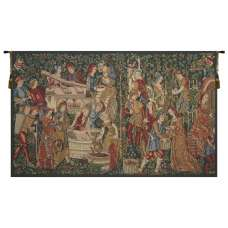 Vendages Red Medium European Tapestry Wall Hanging
