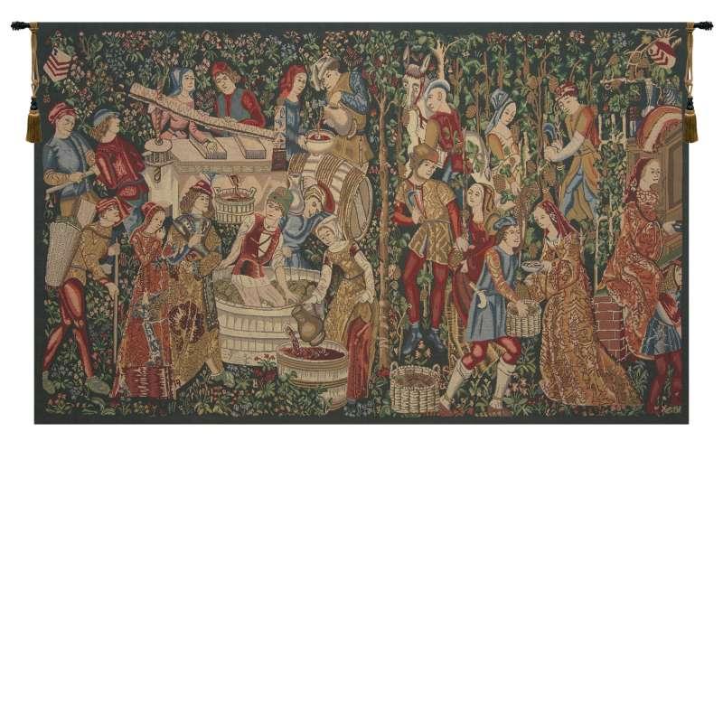 Vendages Red Medium Belgian Tapestry