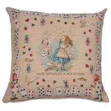 The Pack of Cards Alice In Wonderland French Tapestry Cushion