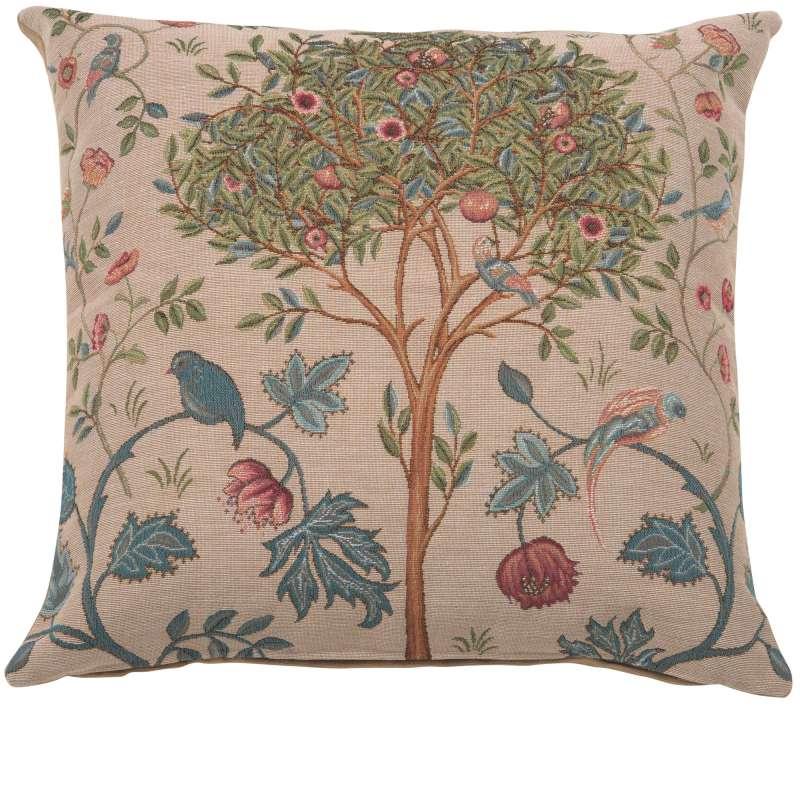 Kelmscott Tree Beige French Tapestry Cushion