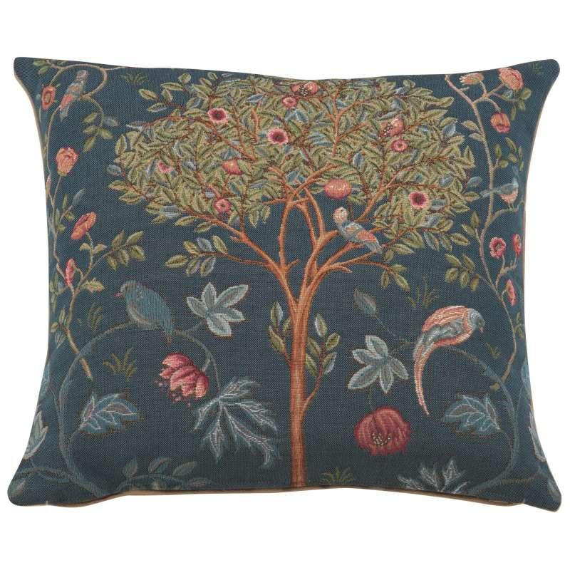 Kelmscott Tree Blue Decorative Tapestry Pillow