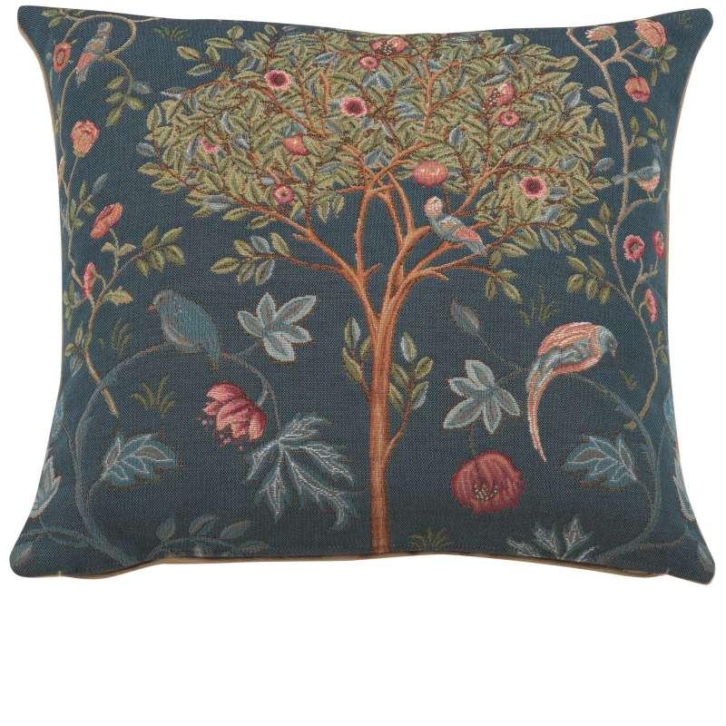 Kelmscott Tree Blue French Tapestry Cushion