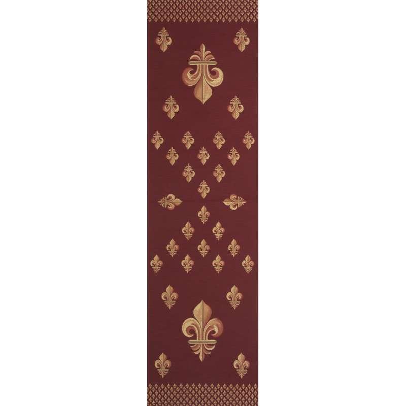 Royal Fleur de Lys Red Tapestry Table Linen