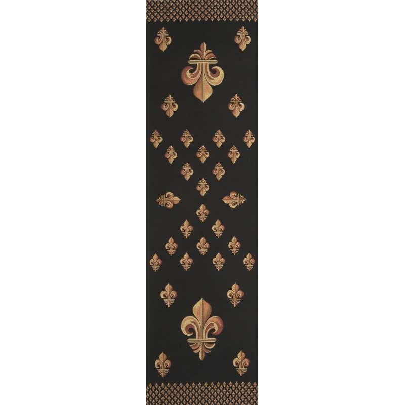 Royal Fleur de Lys Black Tapestry Table Linen