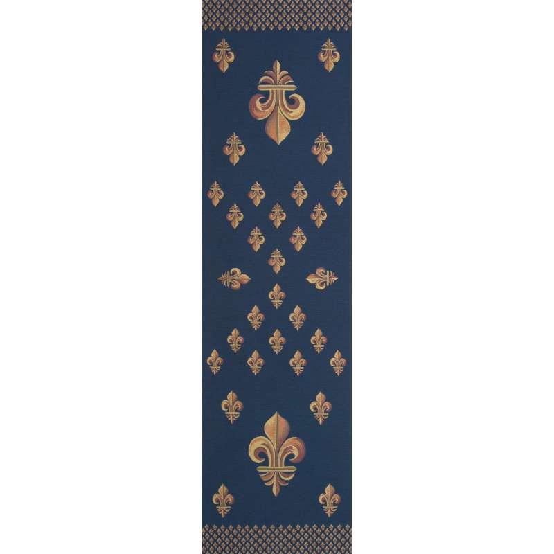 Royal Fleur de Lys Blue Tapestry Table Linen