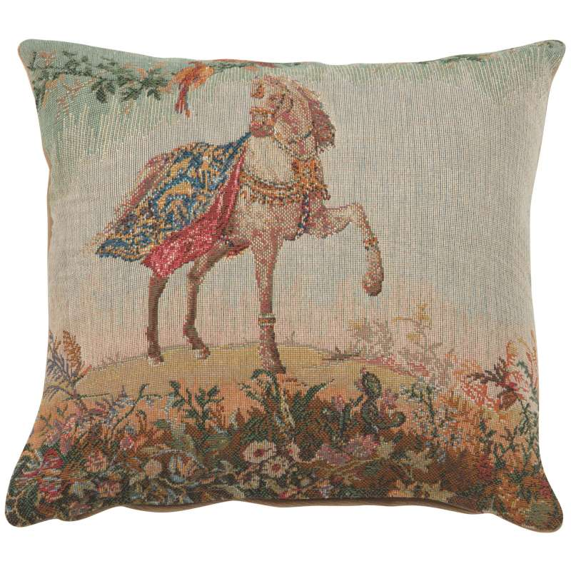 Cheval Small Decorative Tapestry Pillow