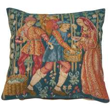 Wine Making Small French Tapestry Cushion