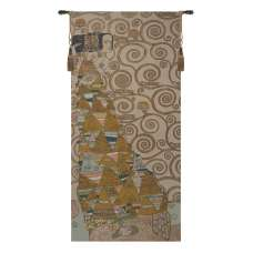 L'Attente Klimt a Gauche Clair French Tapestry