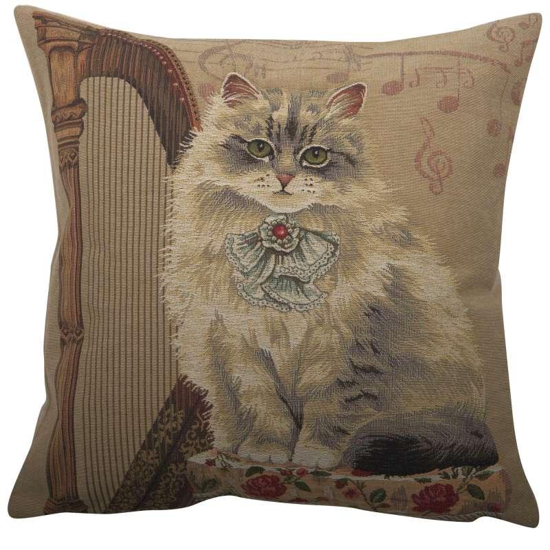 Cat With Harp European Cushion Cover