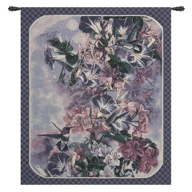 Lavender Hummingbirds Fine Art Tapestry