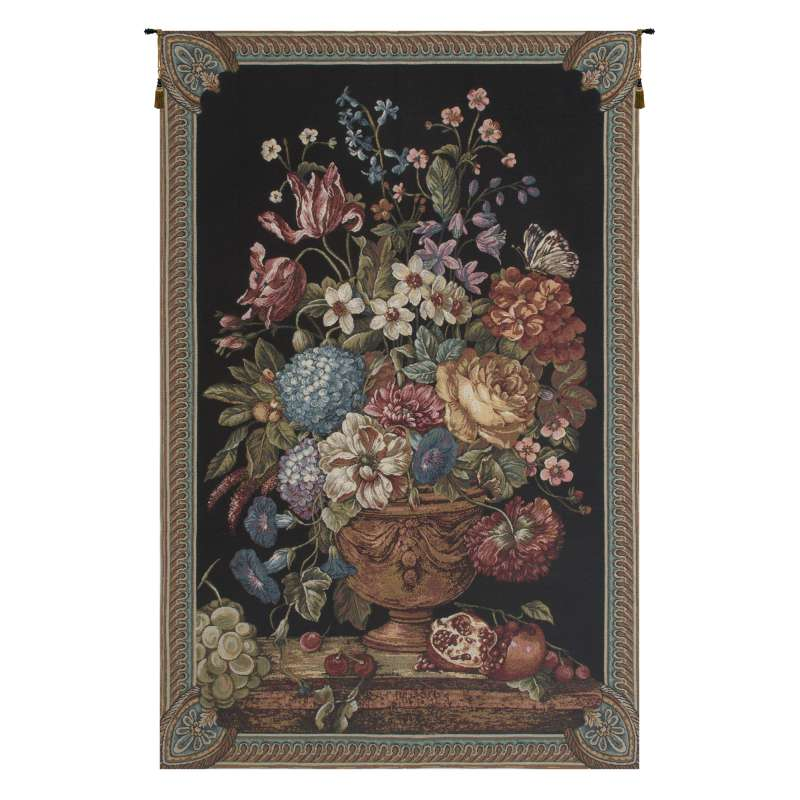 Floral Bouquet Thoughts Chenille European Tapestries