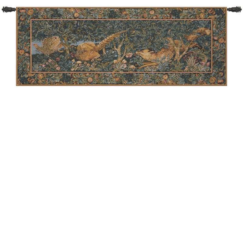 Fox and Pheasants European Tapestry