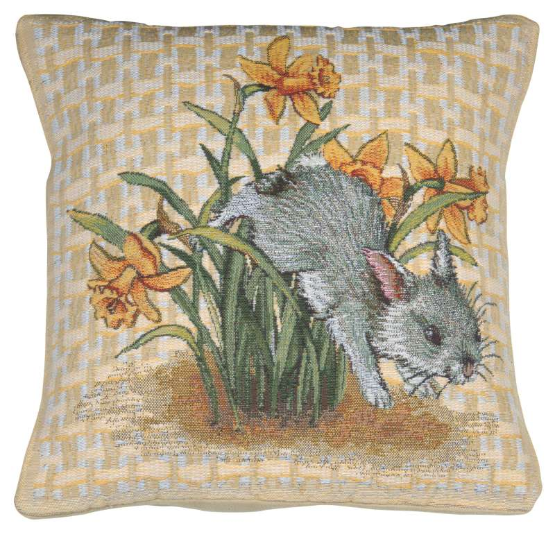 Easter Bunny II Decorative Tapestry Pillow