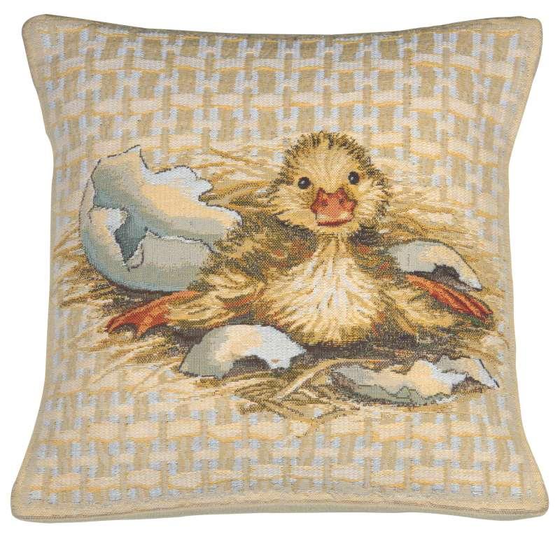 Easter Duck I Belgian Tapestry Cushion