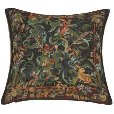 Animals with Arisoloches Green French Tapestry Cushion