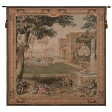 Verdure Fontaine Carree  French Tapestry