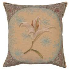 White Lily French Tapestry Cushion