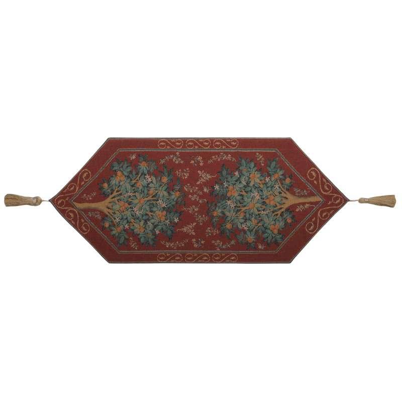 Orange Tree II French Tapestry Table Runner