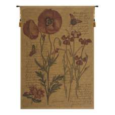 Flanders Poppies III European Tapestry