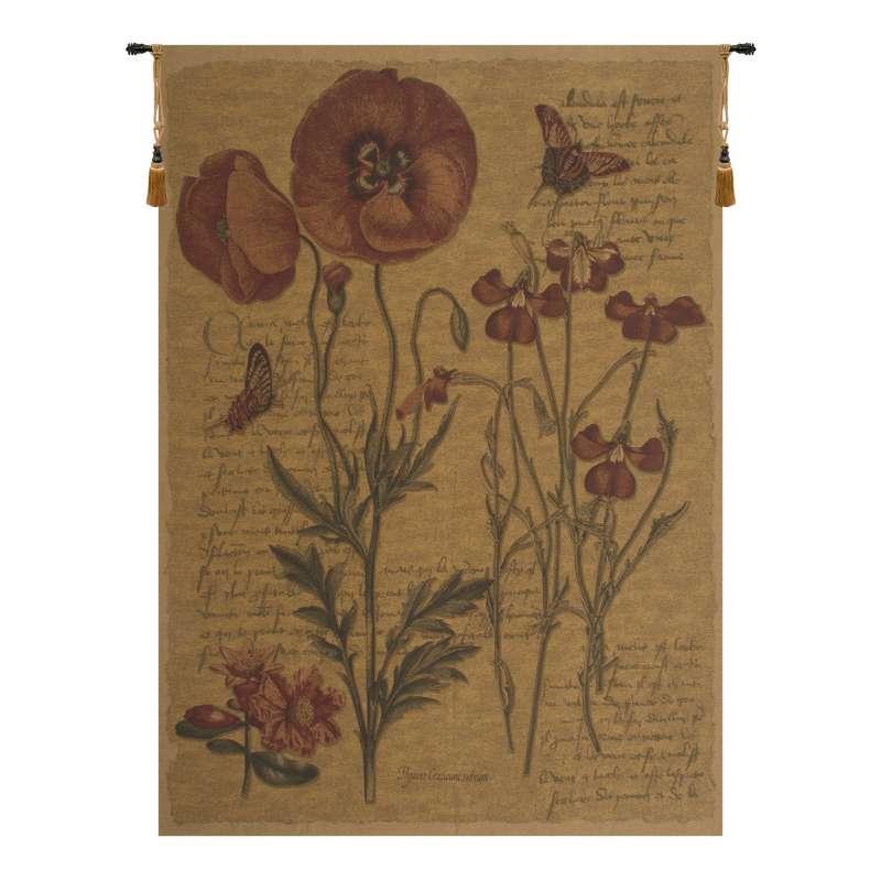 Flanders Poppies III European Tapestry